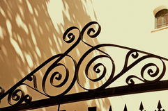 Wrought iron door Stock Photo