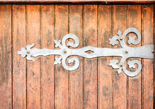 Wrought iron door hinge Royalty Free Stock Photography