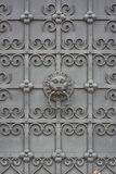 Wrought Iron Door with Lion Royalty Free Stock Photography