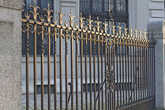 Wrought iron door in Munich, Germany Stock Image