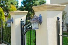 Wrought iron entance gate Stock Image