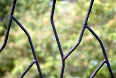 Wrought iron fence  Royalty Free Stock Images