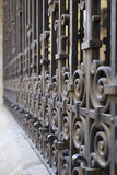 Wrought iron fence detai Stock Images