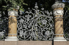 Wrought Iron Fence Detail Royalty Free Stock Image