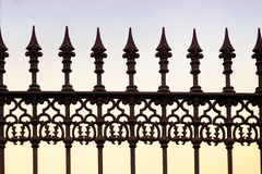 Wrought iron fence Stock Images
