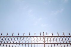 Wrought iron fence Stock Photo