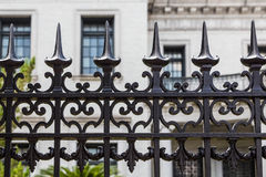 Wrought Iron Fence Detail Stock Photography