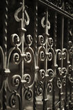Wrought Iron Fence Detail Royalty Free Stock Photos