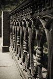 Wrought Iron Fence Detail Royalty Free Stock Images