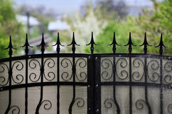 Wrought iron. Fence.  fences Royalty Free Stock Images