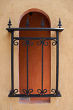 wrought iron fence in mediterranean style Royalty Free Stock Photography