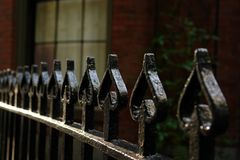 Wrought Iron Fence Of Spades Royalty Free Stock Photography