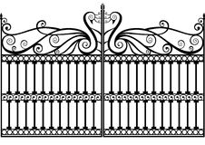 Free Wrought Iron Fence Or Gate Vector Eps Royalty Free Stock Images - 18599249