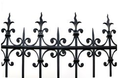 Wrought iron fence Royalty Free Stock Photos