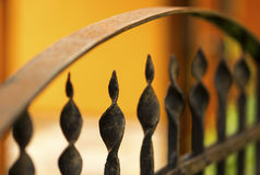 Wrought iron fence rusty Stock Photography