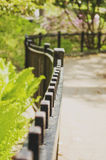 Wrought iron fence. A wrought iron fence with very shallow depth of field Stock Photo