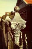 Wrought iron fence vintage Stock Photo
