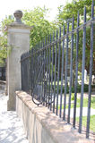 Wrought iron fencing. A background of wrought iron fencing at a cemetery in Charleston Royalty Free Stock Images