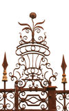 Wrought iron floral decoration Royalty Free Stock Photos