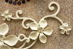 Wrought iron flower on the terrazzo floor Stock Images