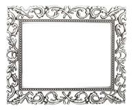 Wrought iron frame. Isolated with clipping path Royalty Free Stock Photos