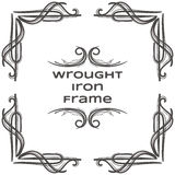 Wrought Iron Frame Nine Stock Photo