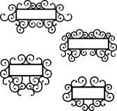 Wrought iron frame vector set. Royalty Free Stock Photography