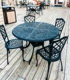 Wrought iron furniture Stock Photos