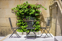 Wrought iron furniture, outdoor seating Royalty Free Stock Photos
