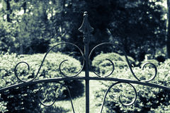 Wrought Iron Garden Gate Motif Stock Image
