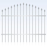 Wrought Iron Gate. Vector illustration of an iron gate Royalty Free Stock Photos