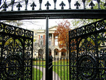 Wrought iron gate. In downtown Toronto Stock Images