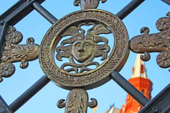 Wrought iron gate in the Alexander Garden royalty free stock photo