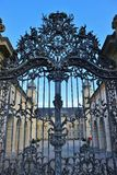 Wrought-iron gate of the baroque Palace Werneck, Germany. Royalty Free Stock Images