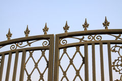 Wrought iron gate decoration Stock Photos