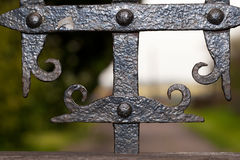 Wrought iron gate detail Stock Photos