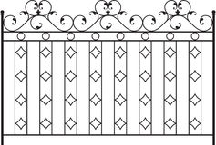Wrought Iron Gate Stock Photo