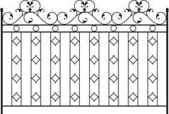 Wrought Iron Gate. Door Design Stock Photo