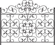 Wrought Iron Gate Royalty Free Stock Photos