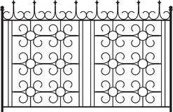 Wrought Iron Gate. Door Design Royalty Free Stock Images