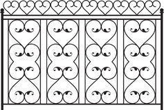 Wrought Iron Gate. Door Design Royalty Free Stock Photo