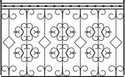 Wrought Iron Gate. Door Design Stock Photos