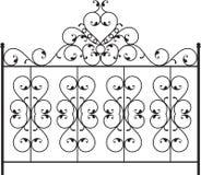 Wrought Iron Gate. Door Design Stock Image