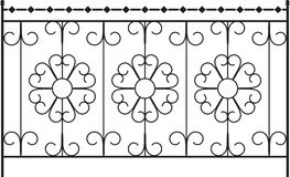 Wrought Iron Gate. Door Design stock illustration