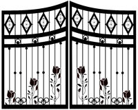 Wrought Iron Gate, Door, Fence.  Royalty Free Stock Photography