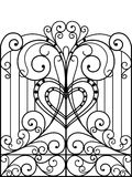 Wrought Iron Gate. Door, Fence royalty free illustration