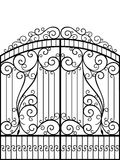 Wrought Iron Gate,. Door, Fence Royalty Free Stock Images