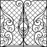 Wrought Iron Gate, Door,. Fence royalty free illustration