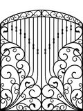 Wrought Iron Gate, Door, Fence. Lasr cut vector illustration