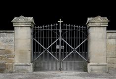 Wrought-iron gate Royalty Free Stock Images